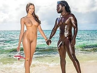On the shore of the black sea Jock eagerly Fucks slender chick... straight outdoor films
