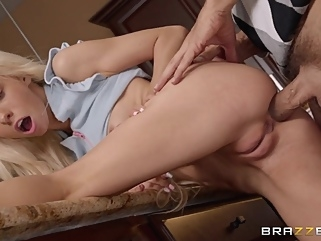 blonde anal high heels