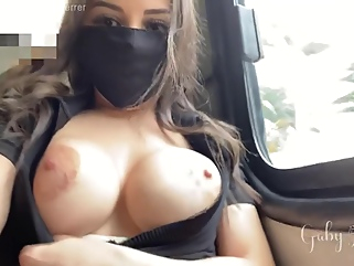 Playing A Risky Game In A Public Bus Just Because Why Not? exhibitionism big tits films