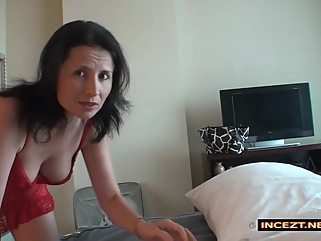 Share Hotelbed With My Son And He Fingerfucks Me fingering brunette films