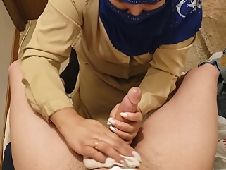 pakistani milf cleans lovers white cock and swallows load