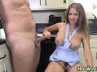 hotwiferio - hot milf in the kitchen