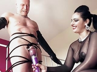 Mistress Finally Lets Her Slave Cum hd videos femdom films