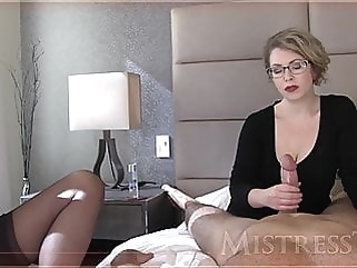 Mistress T jerks a dick bdsm handjob films