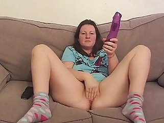 finally she agrees to let me masturbate while shes dildoing milf brunette films