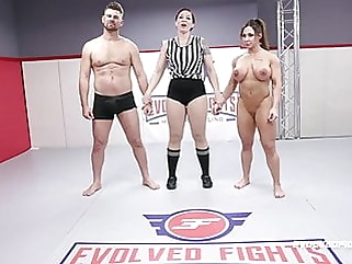 Brandi Mae rough wrestling sex fight vs Jack Friday pornstar fingering films