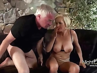 Horny wife used hard by old men handjob blowjob films
