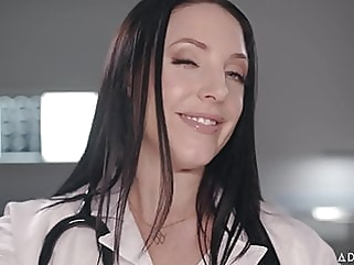 ASMR Fantasy  Dr. Angela White gives Full Body Physical Exam fingering cumshot films