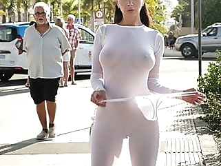 Transparent dress in public public nudity nipples films