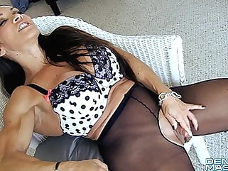 Open Sheer Tights Show Big Clit and Labia milf top rated films