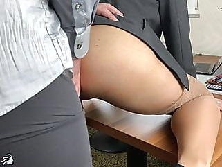 BOSS USES SEXY SECRETARY AND FILLS ALL HER HOLES blonde anal films