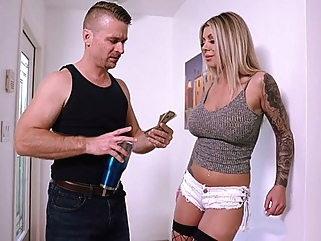 Blonde with huge milkings flows from home to have sex with my husband... blonde big tits films