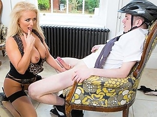 Mmka blonde Fucks biker with a huge cock between her legs... big tits big cock films
