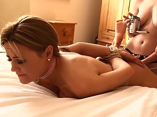 Bound Honeys : Fuck Slave for the Camera brunette bdsm films