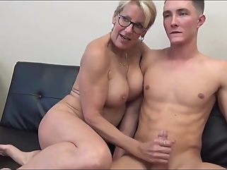 Unreal Sexy 70yo Mature Secretary Having Fun With 19yo Boss big tits big cock films
