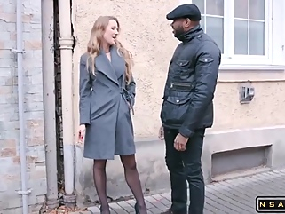 Alluring Babe In Stockings Takes On A Gang Of Big Black Cocks - Alexis Crystal big cock anal films