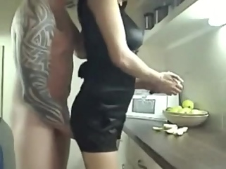 Fucking this Hot Lewd Cheating Wife on the Kitchen wife couple films