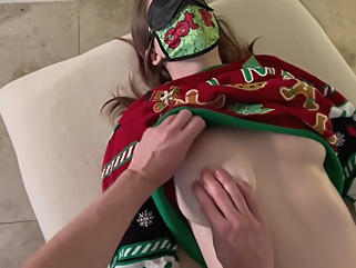 happy holidays! wifes ugly sweater massage with creampie happy ending