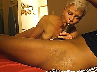 mature blowjob interracial