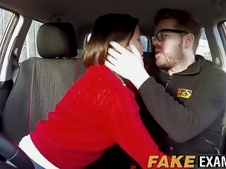 Delicious Brit with big naturals hammered at driving test hd videos british films
