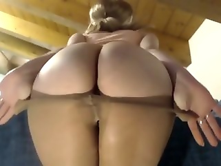 Beamy bore everywhere pantyhose plus last out air arse films