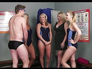 Guy joins the swim team handjob cumshot films