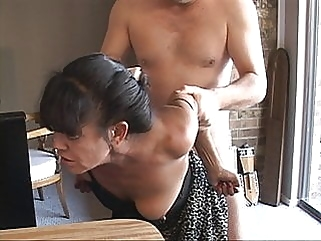 I Turned My Tiny Mexican Granny Maid Into an Anal Slave milf mature films