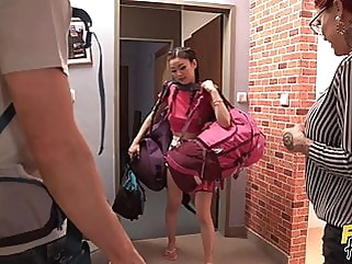 Married Couple Sharing 18yo Fresh Pussy In a Hostel hardcore babe films