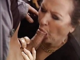 blowjob blonde granny
