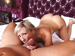 Great MILF cumshot blowjob films