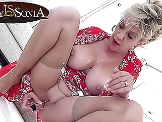 Lady Sonia gets off with her new vibrator pornstar mature films