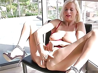 sex toy blonde fingering