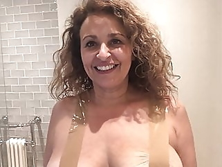 Nadia Sawalha Tapes Her Big Tits Up nipples funny films